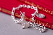 Guess How Much I Love You sitting hare charm bracelet