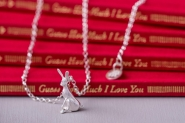 Guess How Much I Love You sitting hare necklace