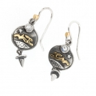 Hare & moonstone drop earrings - Nick Hubbard