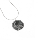 Hare, Moon and Stars necklace