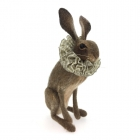 Hare with Grey Gingham Ruff