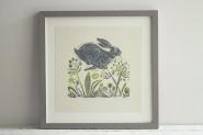 Headlong Hare Print