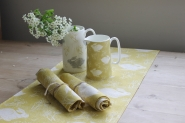 Headlong Hare Yellow Ochre Table Runner