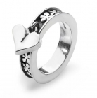 Heart and Flowers Ring