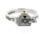Heart of Gold Opening Door Ring