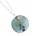 I wish I had a penguin small disk pendant