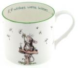 If wishes were kisses mug