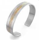Kate Smith - Etched Silver and Gold Cuff