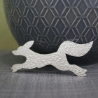Large Fox Brooch