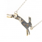Leaping Hare  & Stars Necklace