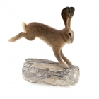 Leaping Hare on Driftwood