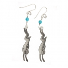 Long Hare and Howlite Drops