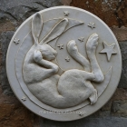 Moon and Stars Hare Plaque