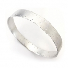 Nibbled Silver Bangle