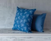 Parsley Blue Linen Cushion