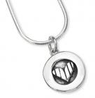 Petite Stripy Heart Necklace