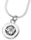Petite Dotty Heart Necklace