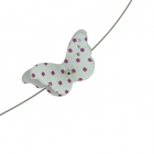 Pink Spot Butterfly Necklace