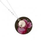 Pretty pearl disc necklace