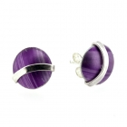 Purple Curve Studs