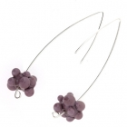 Purple Molecule Drop Earrings