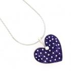 Purple Polka Heart Necklace
