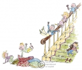 Quentin Blake - Sliding Down the Banister