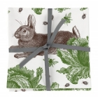 Rabbit & Cabbage Napkins - Set of 4