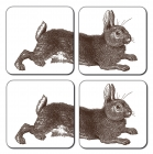Rabbit coaster - set of 4