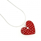 Red Polka Necklace