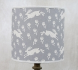 Running Hare Grey Cotton Lampshade