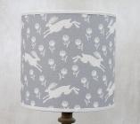 Running Hare Grey Cotton Lampshade