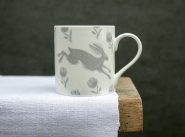 Sam Wilson Running Hare Large Pattern Mug