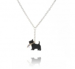 Scottie on a Lead Necklace