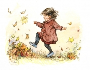 Shirley Hughes Kicking Leaves