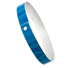Silver & Alloy Bangle - Turquoise