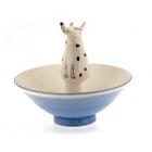 Sitting Spotty Dog Bowl