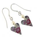 Slim Heart & Pearl Earrings