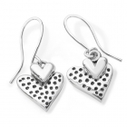 Small Dotty Heart Earrings