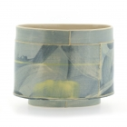 Small Oval Vessel Yellows & Blues
