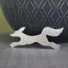 Small Running Fox Brooch