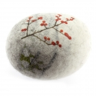 Solid wool Felt Pebble - Berries