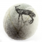 Solid wool Felt Pebble - Deer