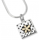 Petite Spotty Gold Flower Necklace