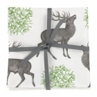 Stag & Mistletoe Napkin Set of 4
