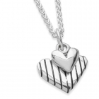 Stripey Heart Necklace