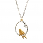 Tiny Bird Loop Necklace