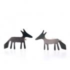 Tiny Fox Studs - Silver