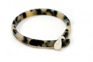 Tortoiseshell hoop bangle