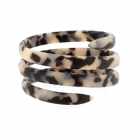 Tortoiseshell spiral bangle